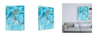 """Trademark Global Joyce Combs Aquarium Abstract II Canvas Art - 15.5"""" x 21"""""""