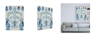"Trademark Global Chariklia Zarris Sapphire Ikat III Canvas Art - 15.5"" x 21"""