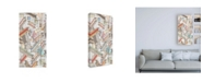 "Trademark Global Nikki Galapon Funky Grid I Canvas Art - 27"" x 33.5"""