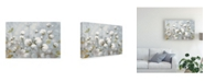 "Trademark Global Julia Purinton Cotton Field Blue Gray Canvas Art - 20"" x 25"""