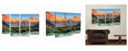 "Trademark Global Pierre Leclerc Zion Sunrise Multi Panel Art Set 6 Piece - 49"" x 19"""