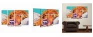"Trademark Global Pat Saunders-White Snoozer King Multi Panel Art Set 6 Piece - 49"" x 19"""