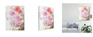 """Trademark Global Sheila Golden Cascade in Pinks Canvas Art - 20"""" x 25"""""""