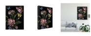"Trademark Global Naomi Mccavitt Dark Floral IV Canvas Art - 37"" x 49"""