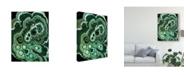 "Trademark Global Naomi Mccavitt Malachite I Canvas Art - 37"" x 49"""