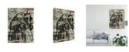 "Trademark Global Joyce Combs Abstract Elephant I Canvas Art - 20"" x 25"""