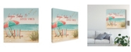 "Trademark Global Janelle Penner Beach Time II Canvas Art - 27"" x 33"""