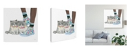 "Trademark Global Emily Adams Cutie Kitties VII Canvas Art - 27"" x 33"""