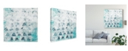 "Trademark Global June Erica Vess Blue Static II Canvas Art - 15"" x 20"""