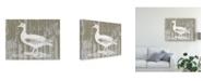 "Trademark Global Jennifer Goldberger Woodgrain Fowl II Canvas Art - 37"" x 49"""