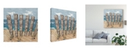 "Trademark Global Jade Reynolds Beach Scene Triptych I Canvas Art - 15"" x 20"""