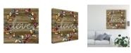 "Trademark Global June Erica Vess Love and Laughter III Canvas Art - 27"" x 33"""