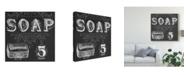 "Trademark Global June Erica Vess Chalkboard Bath Signs I Canvas Art - 27"" x 33"""