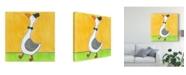 "Trademark Global Tatijana Lawrence Super Animal Gander Canvas Art - 15"" x 20"""