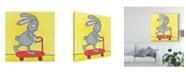 "Trademark Global Tatijana Lawrence Super Animal Rabbit Canvas Art - 20"" x 25"""