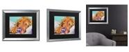 "Trademark Global Pat Saunders-White Snoozer King Matted Framed Art - 27"" x 33"""