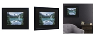 "Trademark Global Pierre Leclerc Natural Beautiful British Columbia Matted Framed Art - 15"" x 20"""