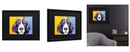 "Trademark Global Pat Saunders-White Sadie Matted Framed Art - 15"" x 20"""