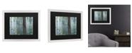 """Trademark Global Claude Monet Waterlillies Morning Matted Framed Art - 20"""" x 25"""""""