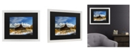 "Trademark Global Pierre Leclerc Iconic Barn Grand Teton Matted Framed Art - 20"" x 25"""