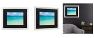 """Trademark Global Pierre Leclerc Blue Beach Maui Matted Framed Art - 20"""" x 25"""""""