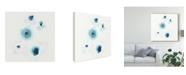 "Trademark Global June Erica Vess Protea Blue II Canvas Art - 15"" x 20"""