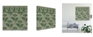 """Trademark Global Vision Studio Nouveau Textile Motif VII Canvas Art - 15"""" x 20"""""""