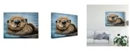 "Trademark Global Patrick Lamontagne Otter Totem Canvas Art - 15"" x 20"""