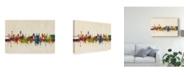 "Trademark Global Michael Tompsett Lisbon Portugal Skyline Canvas Art - 15"" x 20"""
