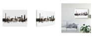 """Trademark Global Michael Tompsett Erlangen Germany Skyline Black White Canvas Art - 15"""" x 20"""""""
