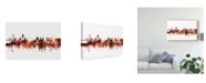 "Trademark Global Michael Tompsett Lisbon Portugal Skyline Red Canvas Art - 15"" x 20"""
