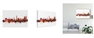 "Trademark Global Michael Tompsett Split Croatia Skyline Red Canvas Art - 15"" x 20"""