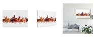 "Trademark Global Michael Tompsett Gloucester England Skyline Red Canvas Art - 15"" x 20"""