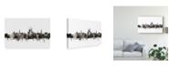 """Trademark Global Michael Tompsett Winchester England Skyline Black White Canvas Art - 15"""" x 20"""""""