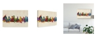 """Trademark Global Michael Tompsett Rio De Janeiro Skyline Brazil Canvas Art - 20"""" x 25"""""""