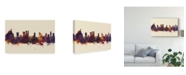 """Trademark Global Michael Tompsett Rio De Janeiro Skyline Brazil III Canvas Art - 15"""" x 20"""""""
