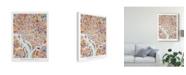 "Trademark Global Michael Tompsett Washington DC Street Map II Canvas Art - 20"" x 25"""