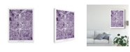 "Trademark Global Michael Tompsett Atlanta Georgia City Map Purple Canvas Art - 15"" x 20"""