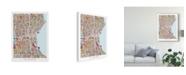 "Trademark Global Michael Tompsett Milwaukee Wisconsin City Map Canvas Art - 20"" x 25"""