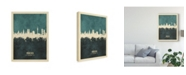 "Trademark Global Michael Tompsett Munich Germany Skyline Teal Canvas Art - 20"" x 25"""