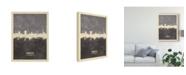 "Trademark Global Michael Tompsett Hannover Germany Skyline Gray Canvas Art - 20"" x 25"""