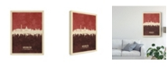 "Trademark Global Michael Tompsett Washington DC Skyline Red II Canvas Art - 15"" x 20"""