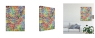 "Trademark Global Michael Tompsett Munich Germany City Map Canvas Art - 15"" x 20"""