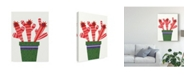 "Trademark Global Regina Moore Cheerful Succulent V Canvas Art - 20"" x 25"""