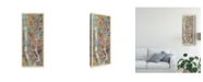 "Trademark Global Nikki Galapon Modern Map of New York III Canvas Art - 20"" x 25"""