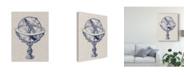 "Trademark Global Vision Studio Armillary Sphere on Linen II Canvas Art - 37"" x 49"""