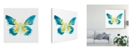 """Trademark Global June Erica Vess Butterfly Traces I Canvas Art - 27"""" x 33"""""""