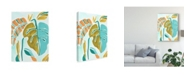 "Trademark Global June Erica Vess Jungle Expression II Canvas Art - 37"" x 49"""