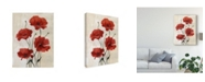 "Trademark Global Emma Scarvey Poppy Bouquet III Canvas Art - 37"" x 49"""