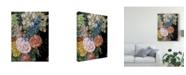 "Trademark Global Melissa Wang Baroque Floral II Canvas Art - 37"" x 49"""